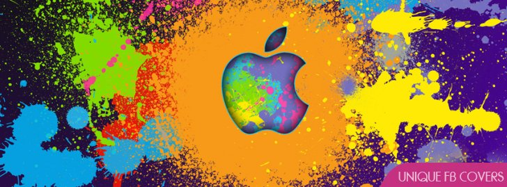 Apple Abstract Paint Facebook Profile Timeline Cover