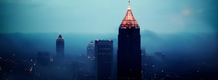 Atlanta City Night Buildings Skyscrapers Cityscapes