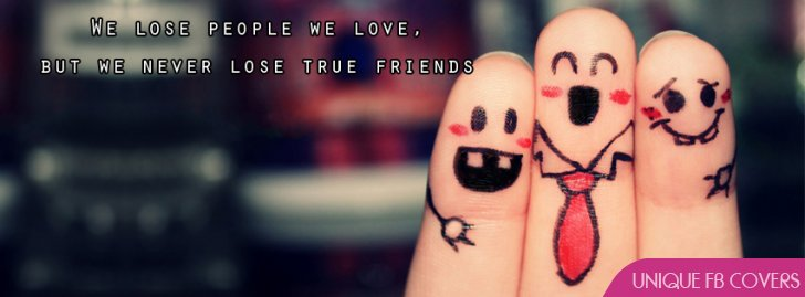 True Friends Quotes Facebook Cover