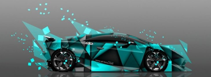 Lamborghini Sesto Elemento Abstract Aerography