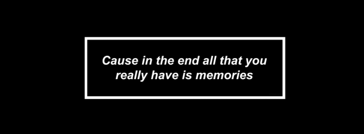 Cause In The End.....