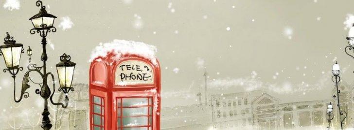 Winter Phone Lantern Snow Figure City