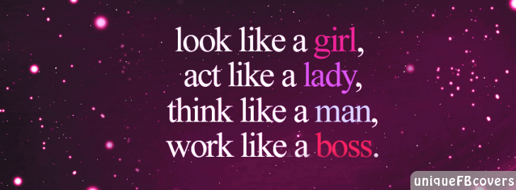 Facebook covers for girls quotes