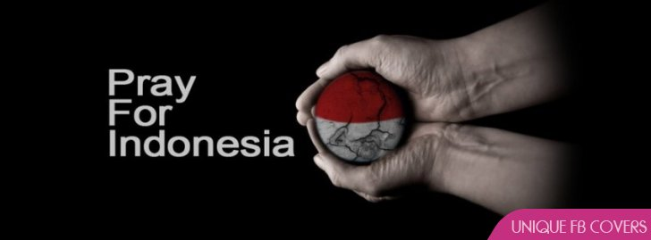 pray for indonesia facebook covers awareness fb cover
