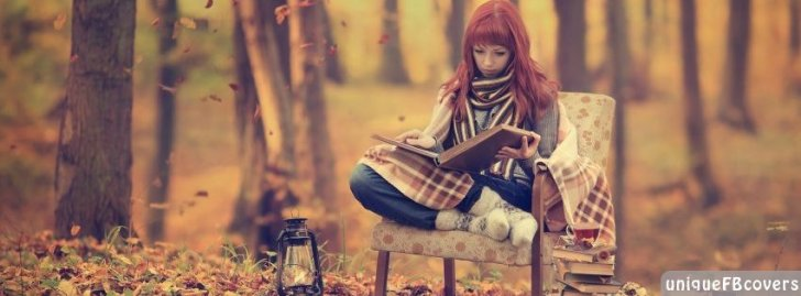 Reading In The Forest Girl Facebook Covers Creative Fb